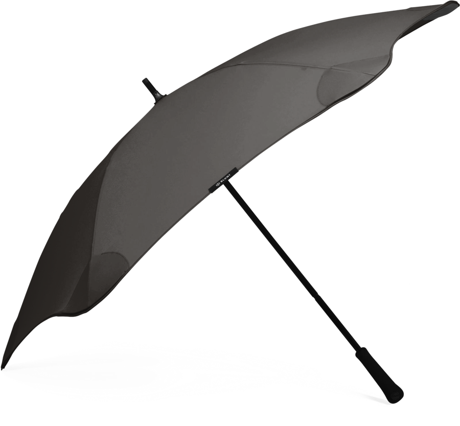 Product shot of the classic umbrella from the side in Black