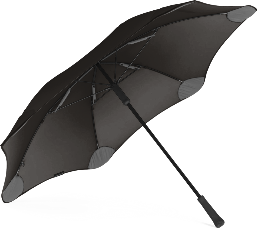 Product shot of the classic umbrella from the under in Black