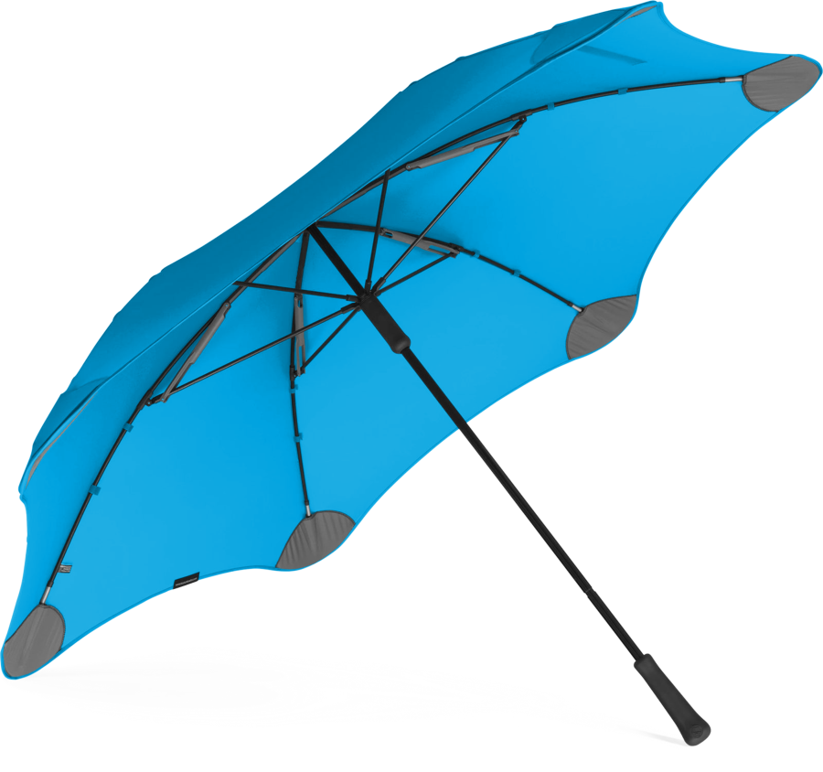 Product shot of the executive umbrella from the under in Blue