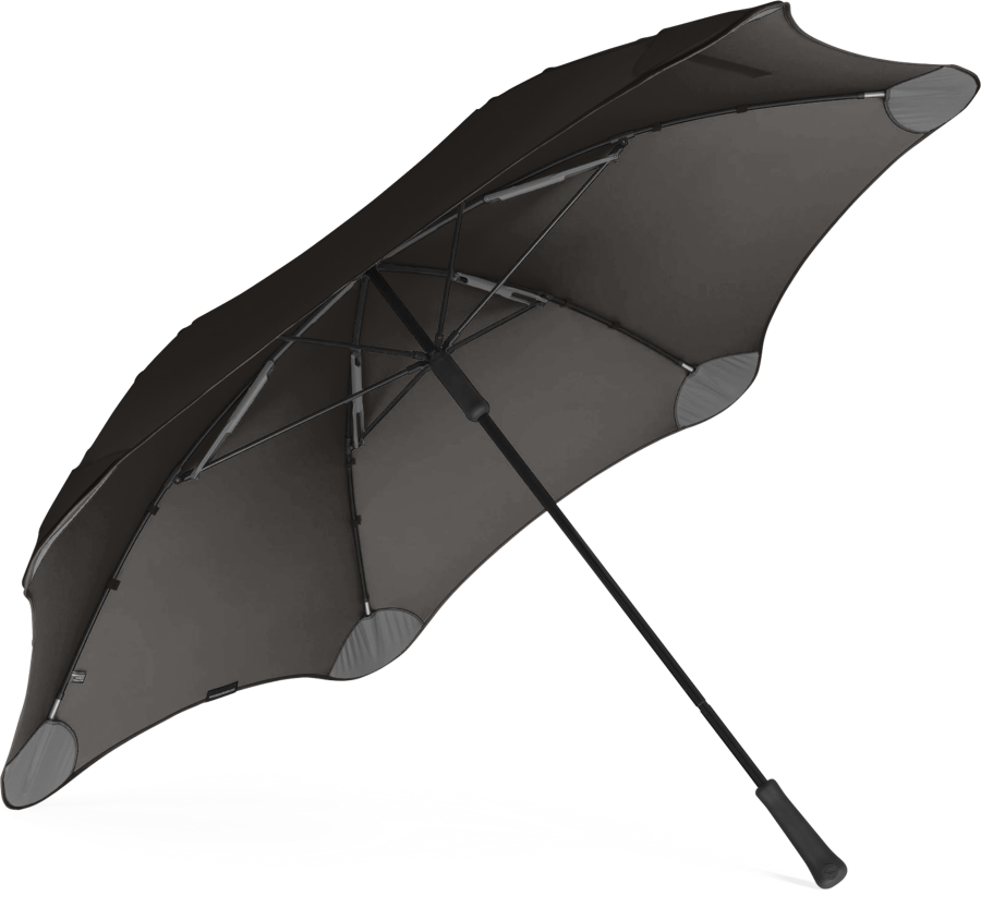 Product shot of the executive umbrella from the under in Black