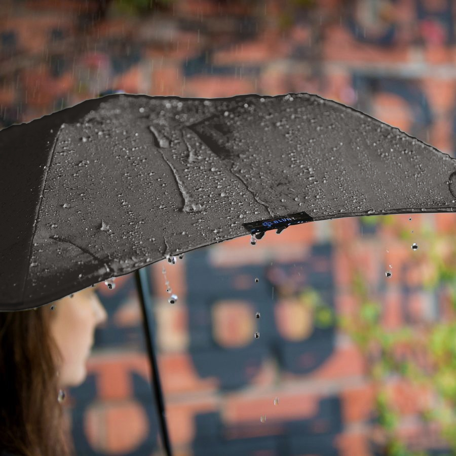 Product shot of the metro umbrella from the 2 in Black