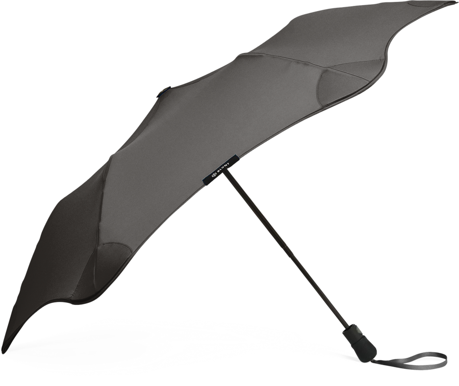 Product shot of the metro umbrella from the side in Black