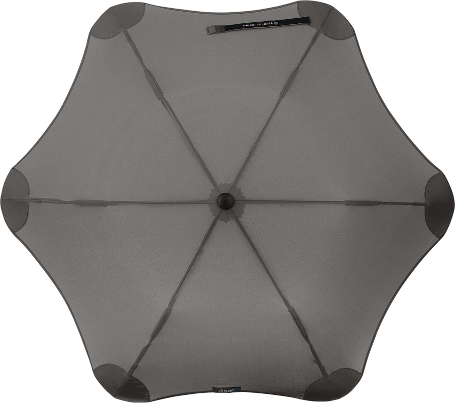 Product shot of the metro umbrella from the top in Black